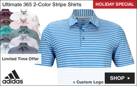 Adidas Ultimate 2-Color Stripe Golf Shirts - HOLIDAY SPECIAL