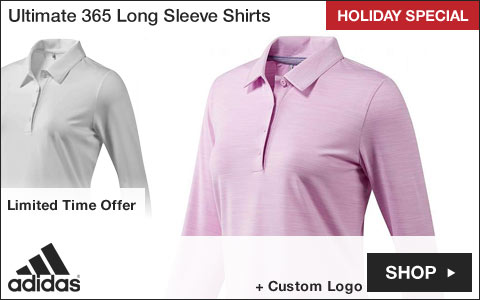 Adidas Women's Ultimate 365 Long Sleeve Golf Shirts - HOLIDAY SPECIAL