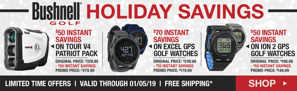 Bushnell Holiday Savings at Golf Locker - Limited Time Offers
