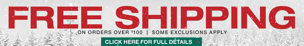 Free Shipping on Orders Over $100 - See Site for Full Details