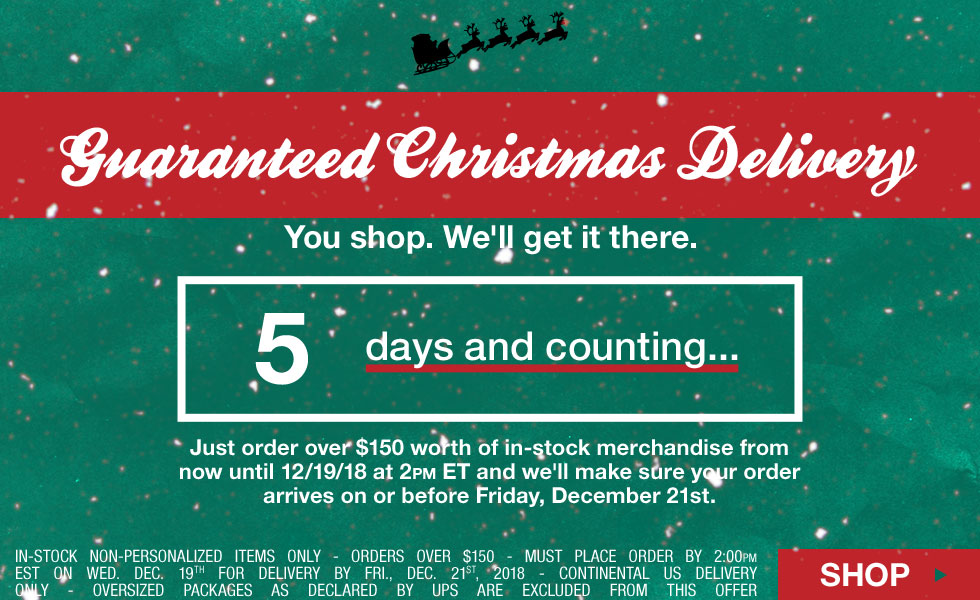 Guaranteed Christmas Delivery - Free Shipping Method Upgrade - Click for Details