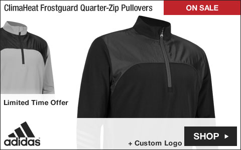 Adidas ClimaHeat Frostguard Quarter-Zip Golf Pullovers - ON SALE