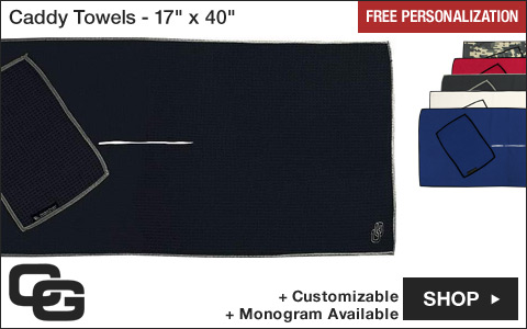 Club Glove Caddy Golf Towels - 17 inch x 40 inch - Free Personalization
