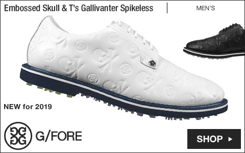 G/Fore Embossed Skull & T's Gallivanter Spikeless Golf Shoes