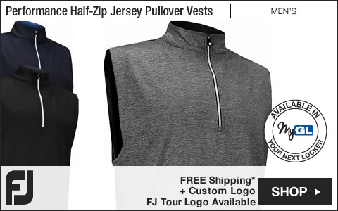 FJ Performance Half-Zip Jersey Pullover Golf Vests with Gathered Waist - FJ Tour Logo Available