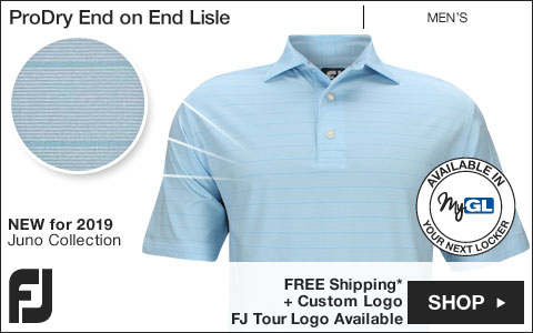 FJ ProDry End on End Lisle Golf Shirts - Juno Beach Collection - FJ Tour Logo Available