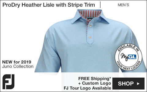 FJ ProDry Heather Lisle with Stripe Trim Golf Shirts - Juno Beach Collection - FJ Tour Logo Available