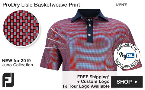 FJ ProDry Lisle Basketweave Print Golf Shirts - Juno Beach Collection - FJ Tour Logo Available