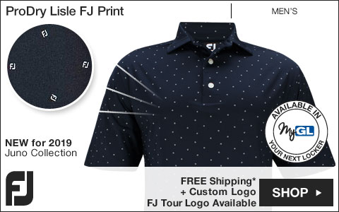 FJ ProDry Lisle FJ Print Golf Shirts - Juno Beach Collection - FJ Tour Logo Available
