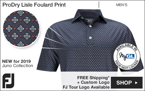 FJ ProDry Lisle Foulard Print Golf Shirts - Athletic Fit - Juno Beach Collection - FJ Tour Logo Available