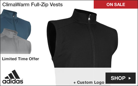Adidas ClimaWarm Full-Zip Golf Vests - ON SALE