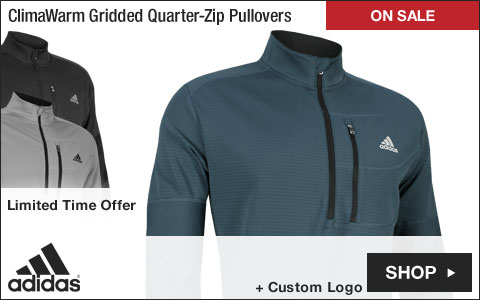 Adidas ClimaWarm Gridded Quarter-Zip Golf Pullovers - ON SALE