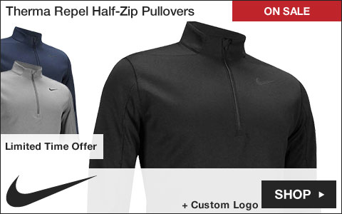 Nike Therma Repel Half-Zip Golf Pullovers - ON SALE