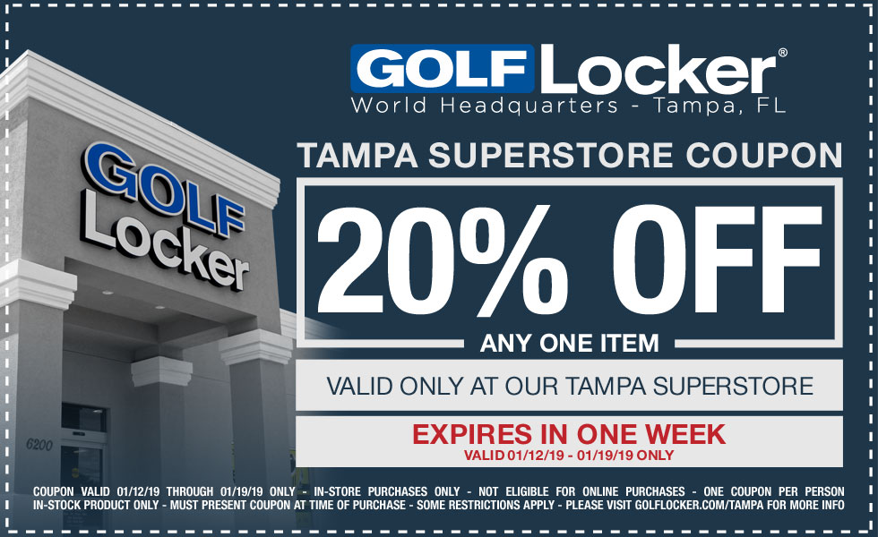 Golf Locker Tampa Coupon