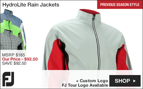 FJ HydroLite Golf Rain Jackets - FJ Tour Logo Available - Previous Season Style