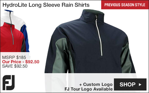 FJ HydroLite Long Sleeve Golf Rain Shirts - FJ Tour Logo Available - Previous Season Style
