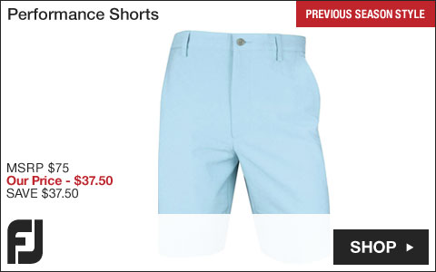 FJ Performance Golf Shorts - Previous Season Style