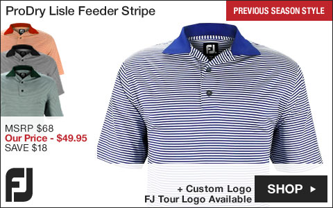 FJ ProDry Lisle Feeder Stripe Golf Shirts - FJ Tour Logo Available - Previous Season Style