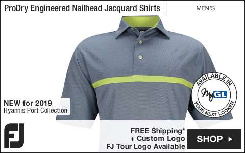 FJ ProDry Engineered Nailhead Jacquard Golf Shirts - Hyannis Port Collection - FJ Tour Logo Available