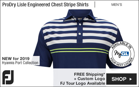 FJ ProDry Lisle Engineered Chest Stripe Golf Shirts - Hyannis Port Collection - FJ Tour Logo Available