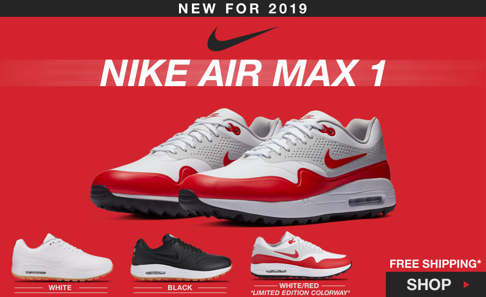 abb6e3585a Nike Air Max 1 G Spikeless Shoes at Golf Locker