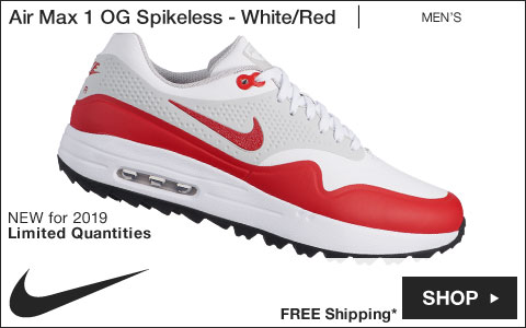 Shop Air Max 1 OG Spikeless Golf Shoes - White/Red