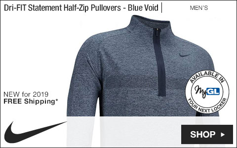 Nike Dri-FIT Statement Half-Zip Golf Pullovers - Blue Void