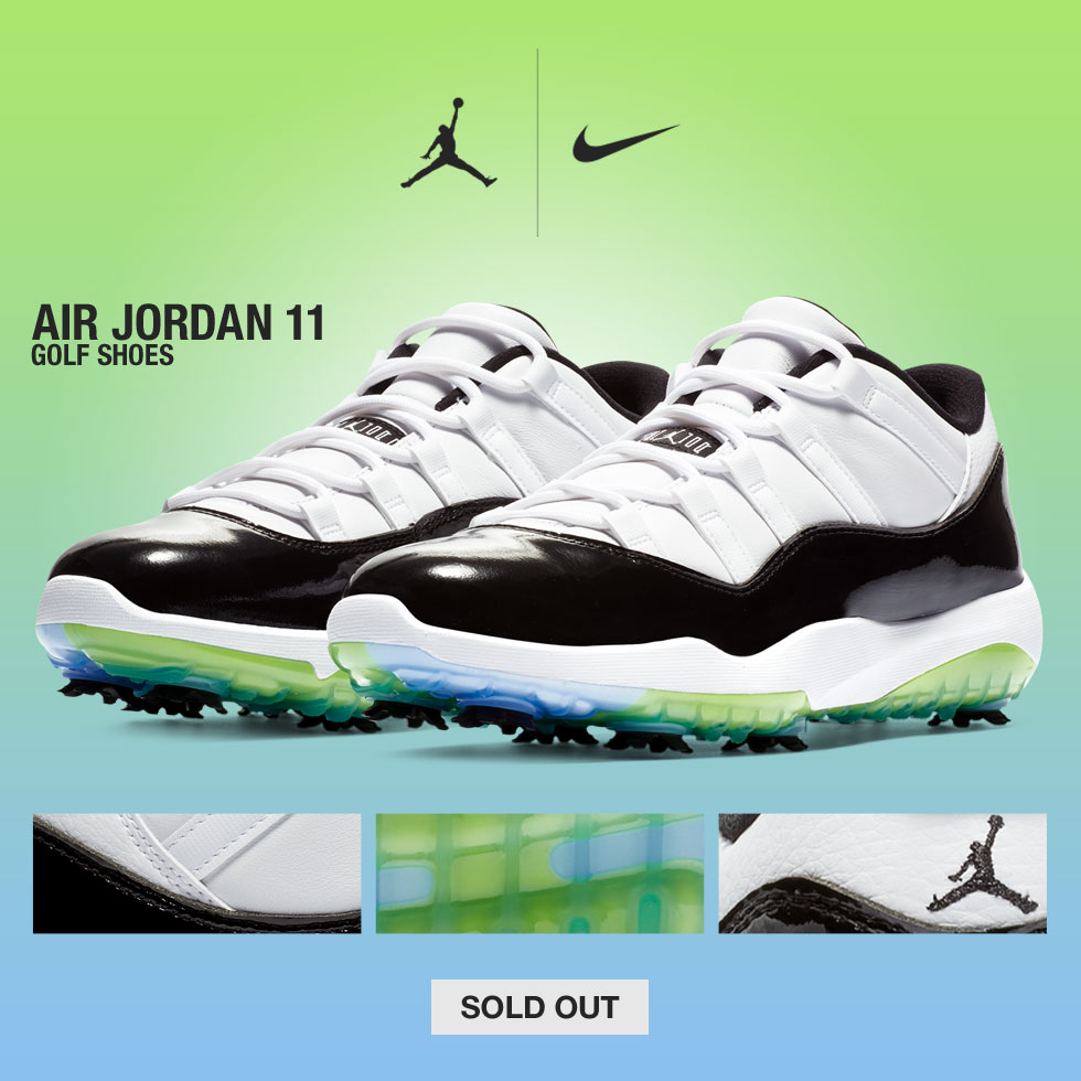 Nike Air Jordan 11 Golf Shoes - Very Limited Quantities