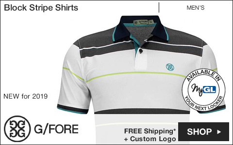 G/Fore Block Stripe Golf Shirts