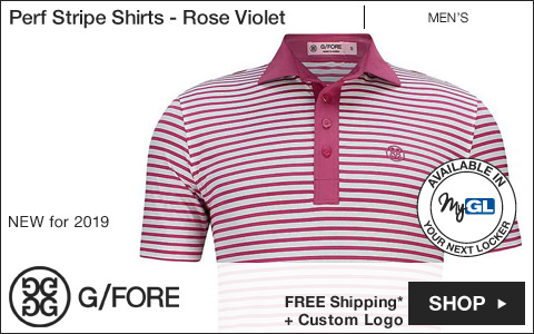 G/Fore 	Perf Stripe Golf Shirts - Rose Violet