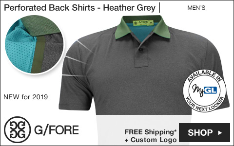 G/Fore Perforated Back Golf Shirts - Heather Grey