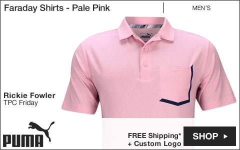 PUMA Faraday Golf Shirts - Pale Pink - Rickie Fowler TPC Friday