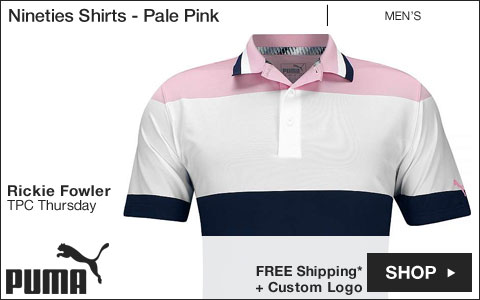 PUMA Nineties Golf Shirts - Pale Pink - Rickie Fowler TPC Thursday