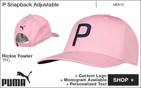 PUMA P Snapback Adjustable Golf Hats - Rickie Fowler TPC