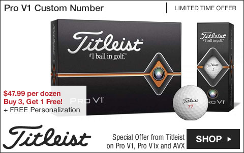 Titleist Pro V1 Custom Number Personalized Golf Balls - Buy 3, Get 1 Free