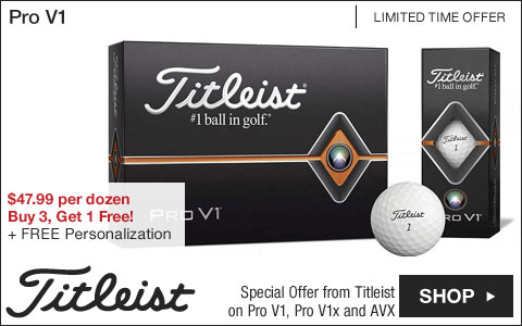 Titleist Pro V1 Personalized Golf Balls - Buy 3, Get 1 Free