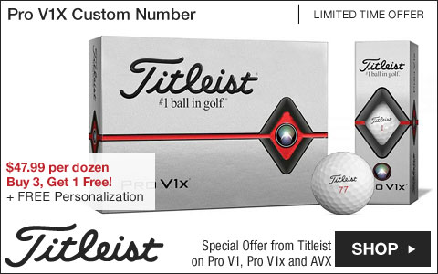 Titleist Pro V1X Custom Number Personalized Golf Balls - Buy 3, Get 1 Free
