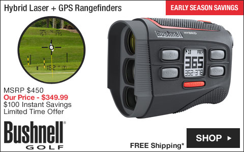 Bushnell Hybrid Laser + GPS Golf Rangefinders - ON SALE
