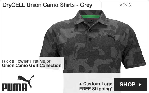 PUMA DryCELL Union Camo Golf Shirts - Grey - Rickie Fowler First Major