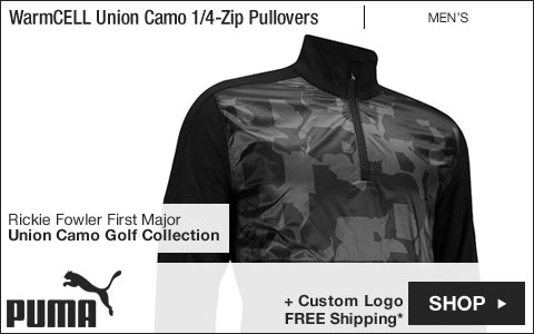PUMA WarmCELL Union Camo Quarter-Zip Golf Pullovers - Rickie Fowler First Major