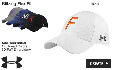 Under Armour 'Your Initial' Blitzing Flex Fit Golf Hats