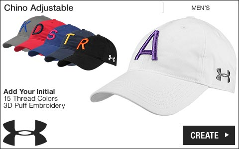 Under Armour 'Your Initial' Chino Adjustable Golf Hats