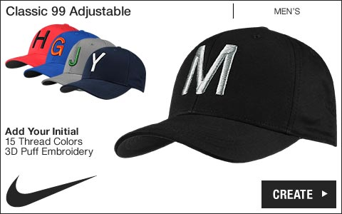 Nike 'Your Initial' Classic 99 Adjustable Golf Hats