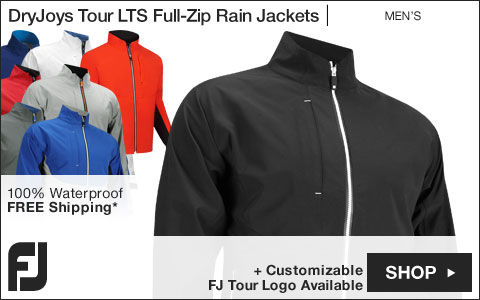 FJ DryJoys Tour LTS Full-Zip Golf Rain Jackets - FJ Tour Logo Available