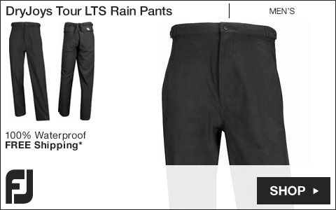 FJ DryJoys Tour LTS Golf Rain Pants