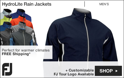 FJ HydroLite Golf Rain Jackets - FJ Tour Logo Available