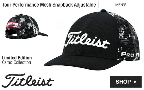 Titleist Tour Performance Mesh Snapback Adjustable Golf Hats - Limited Edition Camo