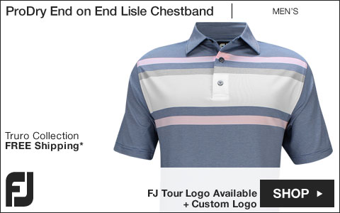 FJ ProDry End on End Lisle Chestband Golf Shirts - Truro Collection - FJ Tour Logo Available