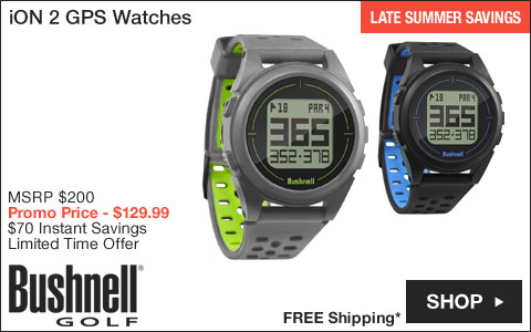 Bushnell iON 2 GPS Golf Watches - ON SALE