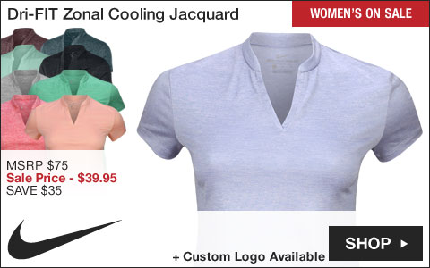 Nike Women's Dri-FIT Zonal Cooling Jacquard Golf Shirts - ON SALE